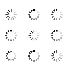 loading icon set vector image vector image