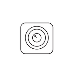 photo camera line icon modern sign for mobile vector image
