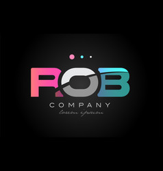 rob r o b three letter logo icon design vector image vector image