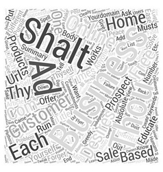 The commandments of online business word cloud vector