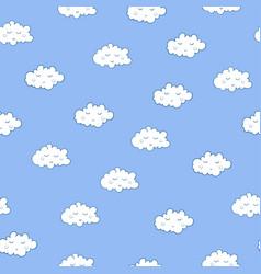 Unusual seamless pattern with cute sleeping vector