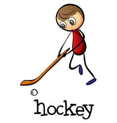 A man playing hockey vector image vector image
