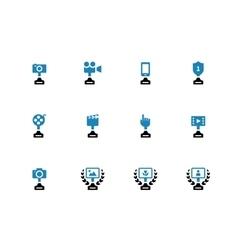 Awards duotone icons on white background vector image