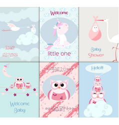 baby shower toys card cute scrapbook vector image