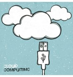 cloud connect concept vector image