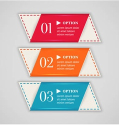 Colorful options banner or label template vector image vector image