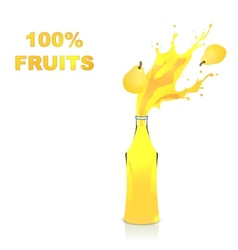 Fruits juices collection pear vector image vector image