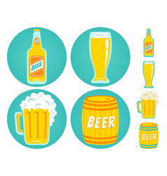 icons beer vector image vector image