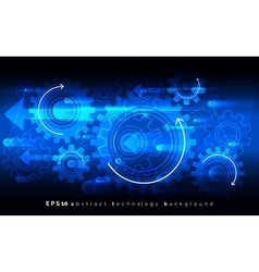 Mechanic blue background with gears Digital vector image vector image