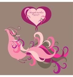 Ornamental bird vector image vector image