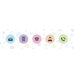 5 contact icons vector