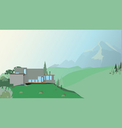a house in the mountains vector image