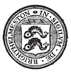 a seal representing the city of brighton england vector image