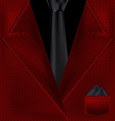 abstract black and red suit vector image vector image
