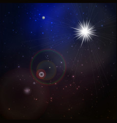 abstract space background with stars vector image