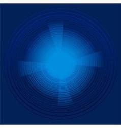 Abstract technology circles dark blue backg vector