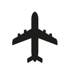 Airplane icon black icon vector