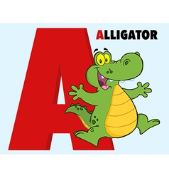 Alligator cartoon vector