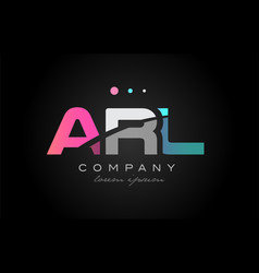 arl a r l three letter logo icon design vector image