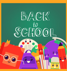 Back to school banner with vector