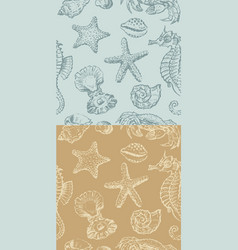 Background with a sea creatures vector