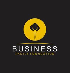 Ballon silhouette logo business family foundation vector