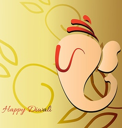 beautiful ganesh vector image