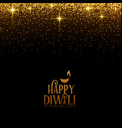 Beautiful happy diwali sparkles and golden vector
