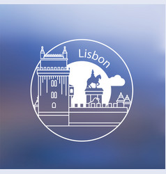belem tower - symbol lisbon portugal vector image