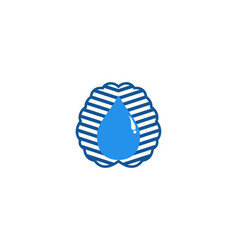 brain and water drop logo designs inspiration vector image