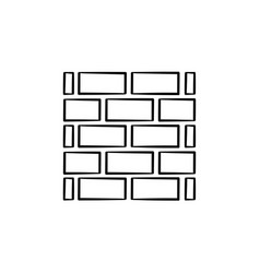 Brickwall hand drawn sketch icon vector