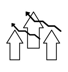 business financial arrows growth success vector image