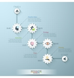 Business timeline info graphic template vector image