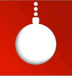 Christmas ball made of paper Winter vector