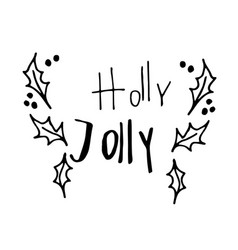 christmas hand lettering signature vector image