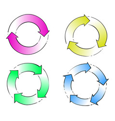 Circle arrow hand drawing vector