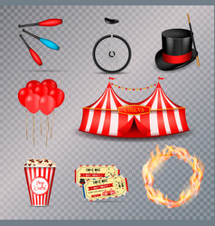 circus essential elements set vector image