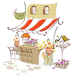 Creative Shop front Scene vector image