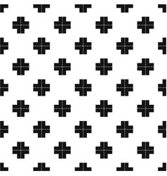 Crossroad pattern vector