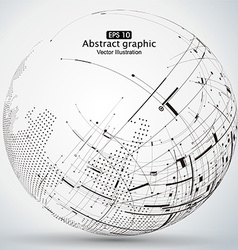 Curve constructed the sphere wireframe vector