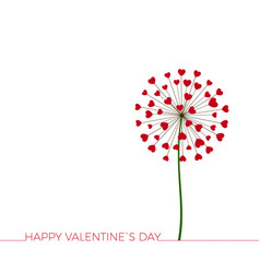 dandelion with hearts happy valentines day vector image