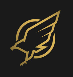 eagle logo emblem on a dark background vector image