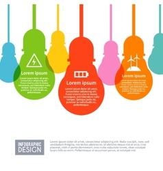 Electricity Infographics Set vector