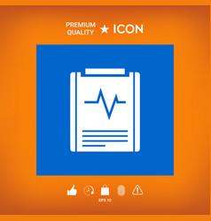Electrocardiogram symbol icon vector