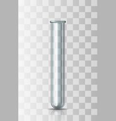 empty transparent scientific or medical glassware vector image
