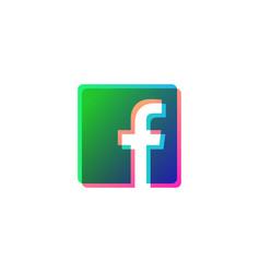 Facebook icon symbol social media logo isolated vector