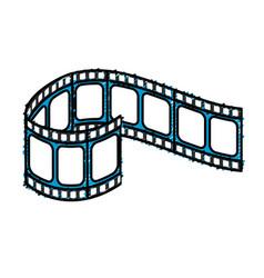 Filmstrip to studio scene in projection vector