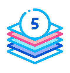 five layers icon outline vector image