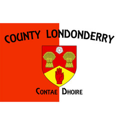 Flag county londonderry in ulster ireland vector