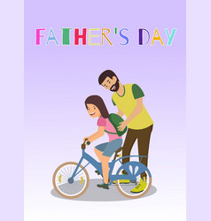 flat written fathers day vector image
